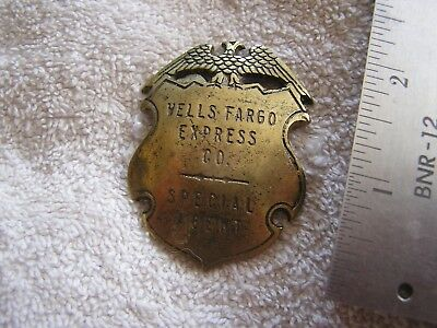 Vintage Wells Fargo Express Co. Special Agent Pin Made in France