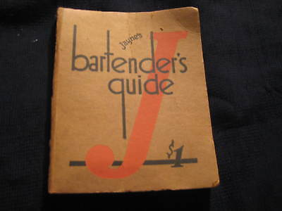 Jayne's Bartender's Guide Dr. D. Jayne & Son rare undated edition
