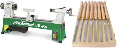 Holzstar Wood Lathe Db 450 Bundle with Mymaw HSS Woodturning Tools Set Drechseln
