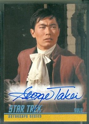 STOS Captain's Collection ( A283 ) George Takei as Sulu  Autograph Card