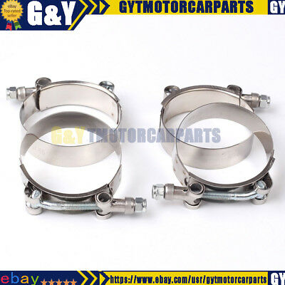 """4X 2.5"""" Stainless Steel T-Bolt Clamps Turbo Intake Silicone Hose Coulper Clamps"""