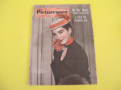 Julia Adams on Front Cover 1954 Picturegoer Magazine Film Entertainment Weekly
