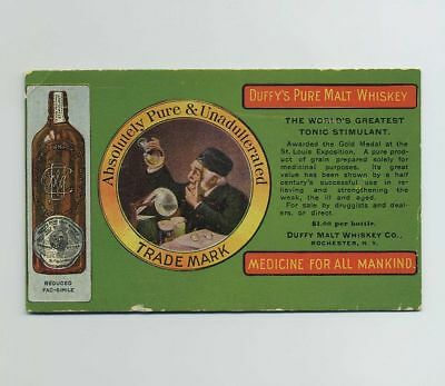 Early Advertising Blotter Card Duffy Malt Whiskey Co Rochester NY Brewery bv8245