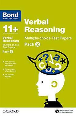 Bond 11+: Verbal Reasoning: Multiple-choice Test Papers: Pack 2 by Down, Frances