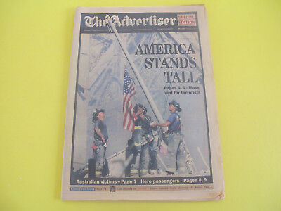 Fire Fighters America Stands Tall 9 11 September 2011 Newspaper The Advertiser