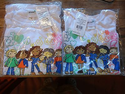 NWT Girl Scout Daisy Long Sleeve t-shirt peace flower friends size L 14/16