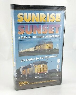 Pentrex Sunrise Sunset A Day at Gibbon Junction VHS Tape Railroad Video