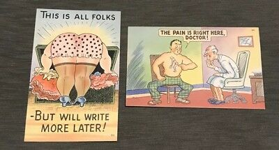 Vintage Post Cards Lot Of Two Uncirculated