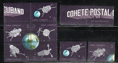 1964 Caribbean Stamps Sc 868 Satellite and Partial Globe 3c MNH