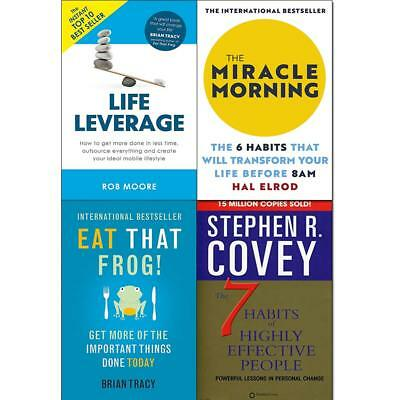 Miracle morning 6 Habits That Will Transform Your Life 4 Books Collection Set