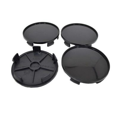 Set 4 pcs Wheel Center Hub Caps Black 68mm/64mm For Audi Bmw Mercedes VW K01b