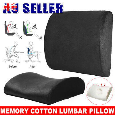 Memory Foam Lumbar Back Support Pillow Back Cushion Home Office Car Seat Chair
