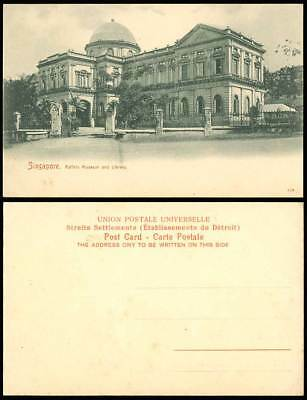 Singapore Old Postcard Raffle's Raffles Raffel's Museum & Library, Entrance Gate