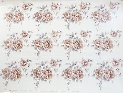 CERAMIC DECALS JUNE ROSE 7077760 12 on A SHEET BY MATTHEY TRANSFERS  RIGHT PRICE