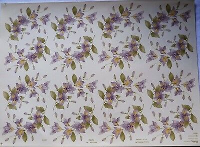 Ceramic Decals Orchid 16 On A Sheet 747812  Earthenware Or China 32 Sale Price