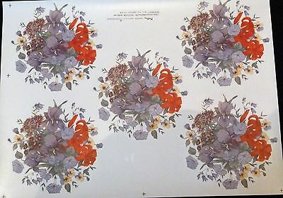 Ceramic Decals By Matthey 5 Bouquet 646544 (200521) 10 On A Sheet  Right Price