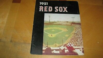 1951 Boston Red Sox 1St Yearbook Year Book Ted Williams Dom Dimaggio Pesky Doerr