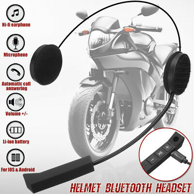 Bluetooth Hi-Fi Motorcycle Helmet Interphone Headset Handsfree Call w/ Mic
