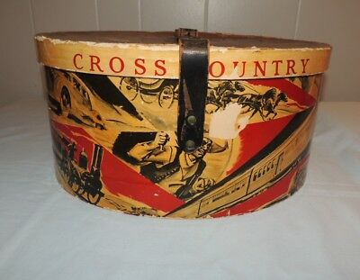 Vintage Dobbs Cross Country Hat Box