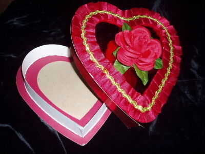 Vtg Red Rose Candy Box Collectible Advertising Sweets Container