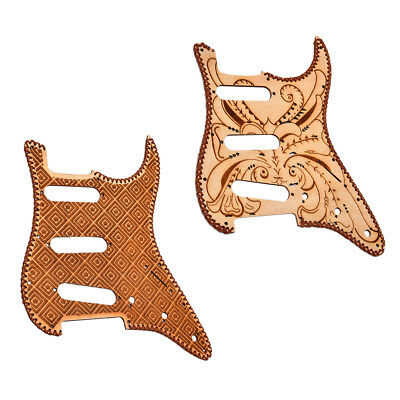 Finest SSS Maple Wood Pickguard Anti-scratch Plate for Strat Electric Guitar