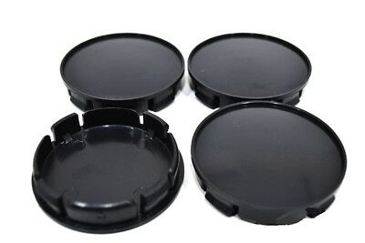 Black Wheel Center Hub Caps Set 4 pcs 68mm//65mm For Audi Bmw Mercedes VW K01b