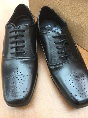 New Marks & Spencer Boys  Black Lace up Shoes Size 3