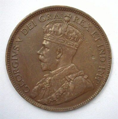 Canada 1914 Large Cent  Uncirculated Brown