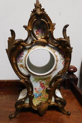 french porcelain and gilt clock case