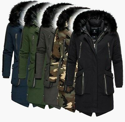 Marikoo WARRIOR Herren Warme Winter Jacke Winter Parka Winter Mantel Anorak NEU