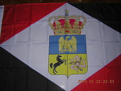 Reproduced Italian Flag of Flags of the Kingdom of Naples Italy Ensign, 3ftX5ft