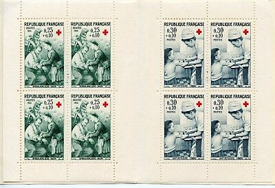 Timbre France Carnet 1966 Croix Rouge N° 2015 ** / Timbre N° 1508/1509 **