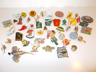 Lot of 48- State & Misc Pin Backs