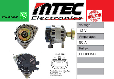 ALTERNATORE FORD FOCUS 99 / 1.8 Turbo DI/ TDDi / TDCi 1753cc 66-74-85KW // 90 AH