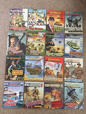 Job Lot of 16 Commando Comics - Action & Adventure..