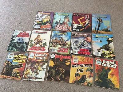 Job Lot of 14 Vintage / Old Commando, War Picture Library, Battle Library Comics