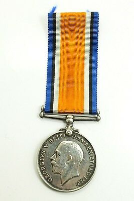 Antique Estate Found British War Medal 1914-1918 WWI Era Silver Medal G25174