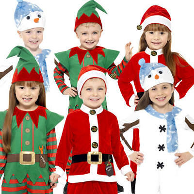 Christmas Toddler Fancy Dress Xmas Winter Festive Boys Girls Kid Childs Costumes