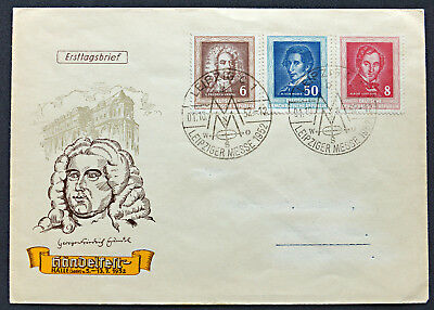 FDC Händel; Weber; Lortzing (15 Euro)  Germany, cover