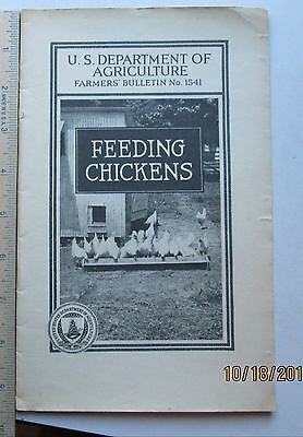 Feeding Chickens 1932 USDA Farmers Bulletin No. 1541