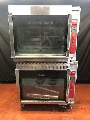 *MINT* Hardt Inferno 3500 Chicken Rotisserie Oven GAS W/ Spits / Skewers