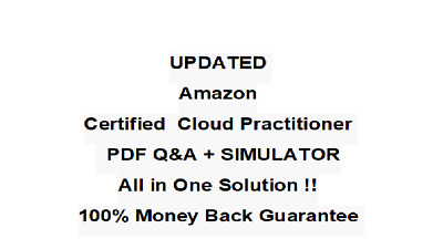 Amazon AWS Certified Cloud Practitioner   Exam QA PDF&Simulator