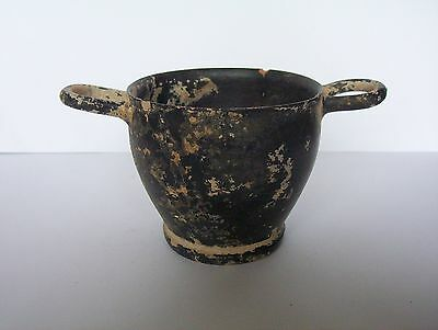 Ancient Greek Pottery  Skyphos c. 5th - 4th century B.C.