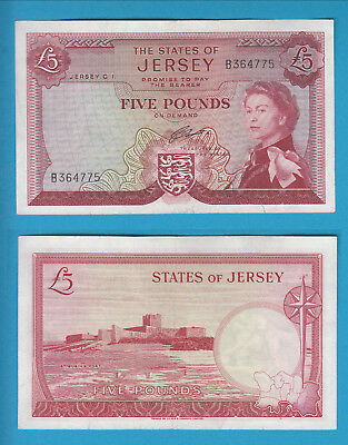 THE STATES OF JERSEY - 5 Pounds - 1963