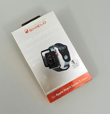 Zagg Invisible Shield Glass Curve Elite Protector for Apple Watch Series 3 38mm