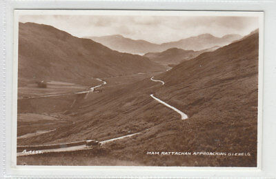 Pass Of Mam Rattachan Approaching Glenelg Real Photograph Valentines A4632