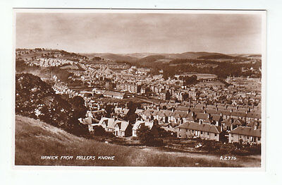 Hawick From Millers Knowe Roxburgh 1935 Real Photograph Valentines A2776