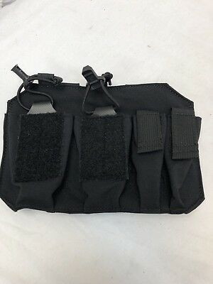 S&S Precision Old Gen Black Plate Frame Double Rifle / Pistol Pouch LBT 6186F-T