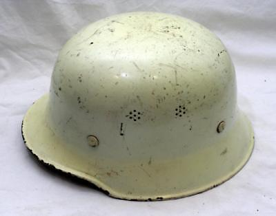 Antique Vintage Post WWII German Military Army Fire Steel Tin Helmet with Liner