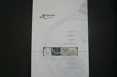 Antiquorum Auktionskatalog  Contemporary Limited Edition, Collector's Watches